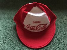VINTAGE DRINK COCA COLA FELT WOOL BASEBALL CAP HAT MADE IN USA SIZE M
