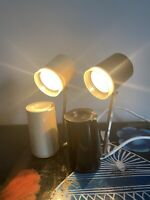 Nanbu-Lite 5 Way Black And Cream Desk Lights Mid Vintage Japan Model NA-101