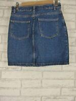 AMERICAN APPAREL Jeans Dark Denim  Skirt Sz M, 10