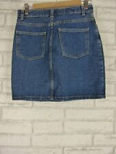 AMERICAN APPAREL Jeans Dark Denim  Skirt Sz M, 10