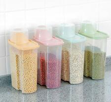 5 paquetes de comida contenedor de almacenamiento Set Tarro hermético cocina apilable de plástico seco