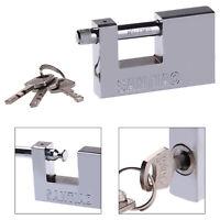 90MM HEAVY DUTY SHUTTER PADLOCK HIGH SECURITY PAD LOCK ANTI RUST SHACKLE UK