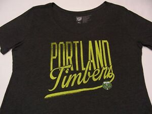 PORTLAND TIMBERS - MLS - GRAY - WOMEN'S XL SIZE V NECK T SHIRT!