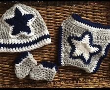 Dallas Cowboys Inspired Football Diaper Cover Set Handmade Newborn