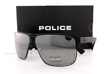 New POLICE Sunglasses S 8955M 531X  Matte Black/Smoke Mirror Silver without case