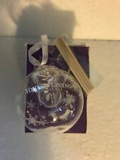 NIB Young Living Essential Oils Diffuser Glass Christmas Tree Ornament 2018