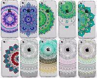 Mandala Coque/Étui Apple iPhone 5 5s SE 6 6s 7 + Protecteur d'écran / Silicone