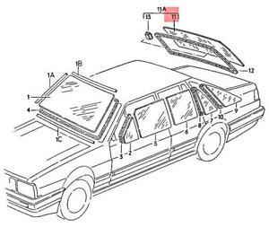 Genuine Volkswagen Heated Rear Window Green NOS Quantum 32 321 322 325845501E