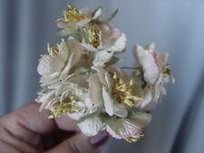 VELVET  CREAM & PINK  BLOSSOM MILLINERY FLOWERS