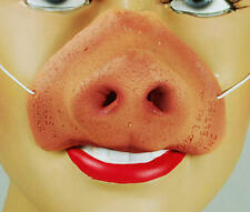 Pink Pigs Nose On Elastic Animal Farm Saw Halloween Fancy Dress