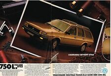 PUBLICITE ADVERTISING  1982     VOLKSWAGEN  PASSAT   1750L  VOLUME UTILE