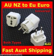 AU  AUS to EGYPT  EU Power Plug Travel Adapter Converter Both Types