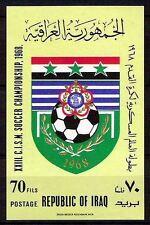 IRAQ WORLD MILITARY SOCCER CHAMPIONSHIP 1968 SOUVENIR SHEET SC# 476a  MNH