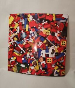 """Vintage Lego Print Metal / Magnetic / Magnet Noticeboard - Approx 17.5""""x17.5"""""""