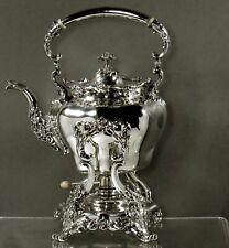 Whiting Sterling Tea Set                 c1890 CHRYSANTHEMUM