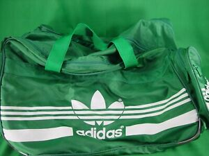 Vintage Adidas Green Large Gym Bag with Lots of Pockets in New Clean Condition