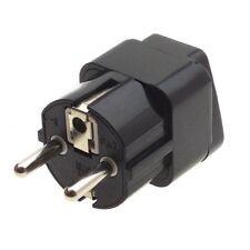 Travel AU US UK To EU AC Power Plug Charger Adapter Socket Converter Black