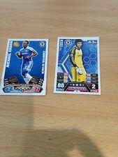 2 Very Rare Chelsea Match Attax Football Cards Vgc