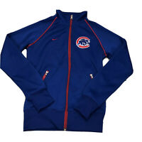Nike MLB Chicago Cubs Zip Up Jacket Womens Size XS Embroidered Logo