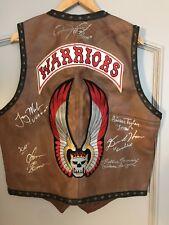 The Warriors Signed Autographed Vest 5 Warriors Gang members Bobbie Mannix