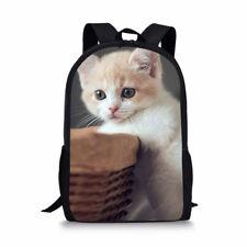 Cat Designs Backpack Women Girls School Bookbags College Shoulder Satchel Bags
