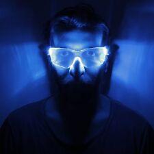 TU45 - CYBER VIZOR BRIGHT BLUE LED LIGHT GLASSES IDEAL FOR PARTY/FESTIVAL/EVENT