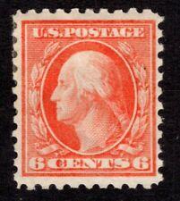 OAS-CNY 8433 429 – 1914 6c Washington, red orange, single line watermark MH $45
