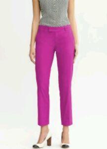 BANANA REPUBLIC STRAIGHT CUT DRESS PANTS,DARK PINK-Size 4P