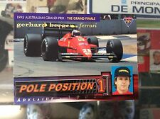 GERHARD BERGER FERRARI F1/87 TURBO V6 POLE POSITION COLLECTOR CARD #2976 OF 3000