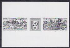 DDR ZD W 828 S (*) Schwarzdruck Zusammendruck, Briefmarkenausstellung 1990