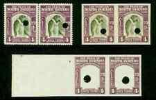 North Borneo 1939 Proboscis Monkey 4c proof pairs