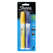 Sharpie Poster-Paint Markers, Water-Based, Fine, Blue Ink, Yellow Ink, 2/Pack