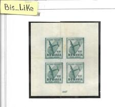BIS_LIKE:block Romania 1947 NH/ yellow stains fold LOT AP 03-263