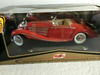 Maisto - Mercedes Benz 500 K Type Special Roadster 1936 1:18 Scale Pre owned