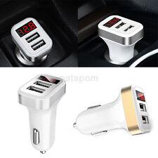 Cargador de coche inteligente 5V 2.1A Dual USB Adaptador de carga rápida para teléfono móvil