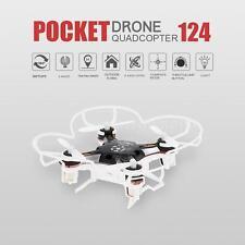 FQ777 124 RC Quadcopter 2.4G 4CH 6-axis Gyro Pocket Drone RTF Black Nice Gift