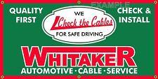 WHITAKER AUTOMOTIVE CABLE VINTAGE SIGN OLD SCHOOL REMAKE BANNER GARAGE ART 2 X 4