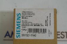 SIEMENS 3RH1921-1FA40 Auxiliary Switch Block 4S/ 4NO NEW IN BOX