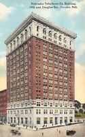 Omaha NE~Nebraska Telephone Co Building~19th & Douglas~Gone Now~1916 Postcard