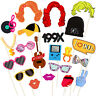 Tinksky 21Pcs Cosplay 90s Party Photo Booth Props Funny Party Supplies
