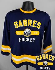 Buffalo Sabres Jersey Boy's XL (16 - 18) Blue Team Logo Kids Jersey New ST119