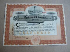 Old Vintage 1918 - OKLAHOMA OIL COMPANY - Stock Certificate