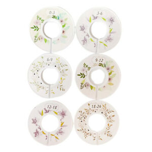 6 Pc Baby Clothes Size Dividers Clothing Hanger Separation Circle for Wardrobe