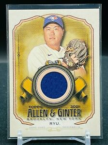 2021 Topps Allen Ginter Hyun-jin Ryu Game Used Patch Blue Jays