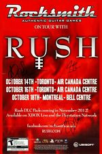 New listing Rush : Clockwork Angels Canadian Tour Concert Poster 2012 12x18