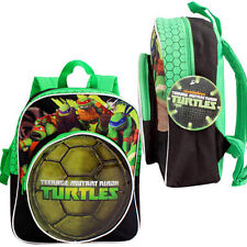 "Ninja Turtles Boys Kids School 12"" BACKPACK - 2 COMPARTMENT BOOK BAG TMNT"