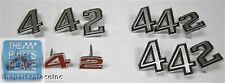 1972 Oldsmobile Cutlass / 442 Emblem Kit - Grille / Fender / Trunk