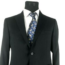 Brooks Brothers 1818 Regent Mens Suit Blue Pinstriped 40S Estrato Trabaldo Tonga