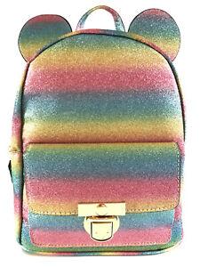 Disney Mickey Mouse Ladies Backpack With Ears Travel Bag Shoulder Bag Primark