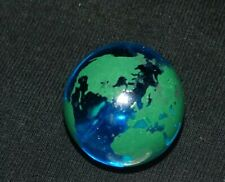 Vintage Shooter Glass Marble Map World Globe